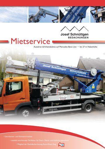 Mietservice - Josef Schnüttgen Bedachungen GmbH & Co. KG