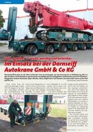 Im Einsatz bei der Dornseiff Autokrane GmbH & Co KG