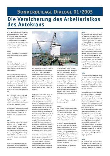 Die Versicherung des Arbeitsrisikos des Autokrans - deas.de