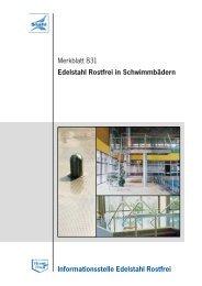 Merkblatt 831 - Informationsstelle Edelstahl Rostfrei