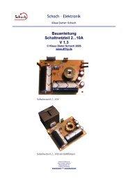 Schoch – Elektronik Bauanleitung Schaltnetzteil 2...10A V 1.3 - DF1TY