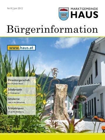 Info & Service - Gemeinde Haus