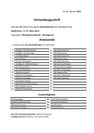 Verhandlungsschrift Anwesende - Stadl-Paura