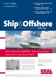 KRAL Electronics BEM 800 – Fuel Consumption ... - Schiff & Hafen