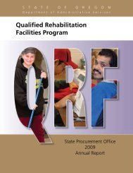 Qualified Rehabilitation Facilities Program - State of Oregon