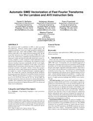 Automatic SIMD Vectorization of Fast Fourier Transforms for the ...