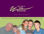 2010 Annual Report - Our Lady of the Wayside