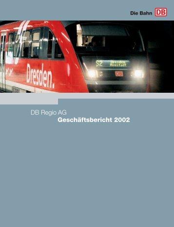 DB Regio AG Geschäftsbericht 2002 - Deutsche Bahn AG
