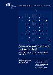 Sozialreformen in Frankreich und Deutschland - dfi