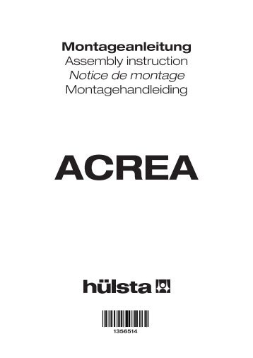 Montageanleitung Assembly instruction Notice de montage - H