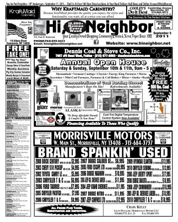 10th Anniversary - September 11, 2011 - The Hi Neighbor