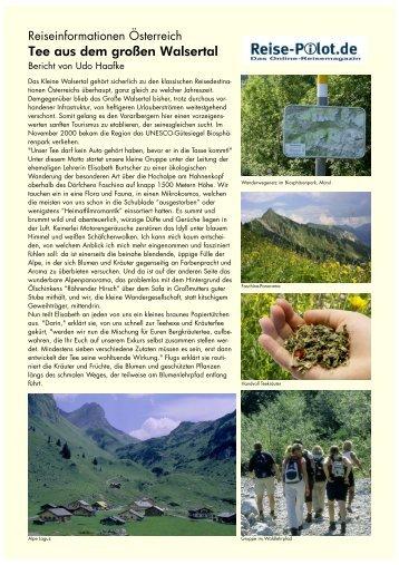 Tee aus dem großen Walsertal - die-fotos.de