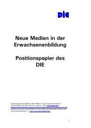 Neue Medien in der Erwachsenenbildung Positionspapier des DIE