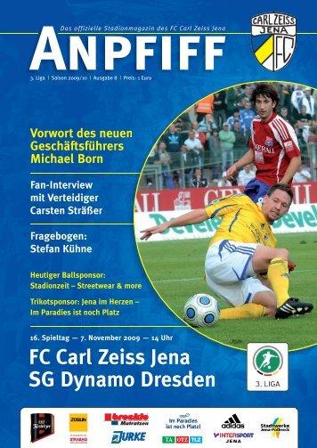FC Carl Zeiss Jena SG Dynamo Dresden
