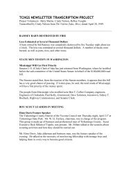 TCHGS NEWSLETTER TRANSCRIPTION PROJECT