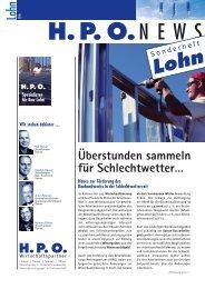 Lohn 2006 Überstunden sammeln für Schlechtwetter… - HPO ...