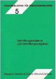Vermittlungsprobleme und Vermittlungsaufgaben - Deutsches ...