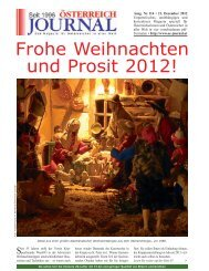 Frohe Weihnachten und Prosit 2012! - Österreich Journal