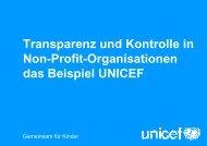 Transparenz und Kontrolle in Non-Profit-Organisationen ... - DGCS