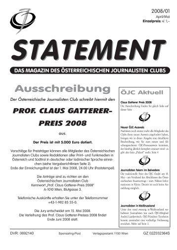 April/Mai 2008 - Österreichischer Journalisten Club