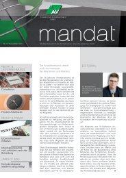 mandat»: Ausgabe 03/2011 - St.Gallischer Anwaltsverband SGAV