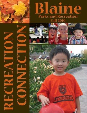 Parks and Recreation Fall 2010 - Blaine, Minnesota