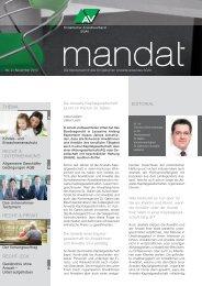 mandat»: Ausgabe 02/2012 - St.Gallischer Anwaltsverband SGAV