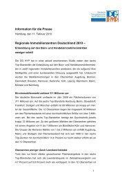 Regionale Immobilienzentren Deutschland 2010 - DG Hyp