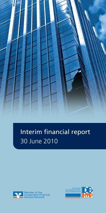 Interim financial report 30 June 2010 - DG Hyp