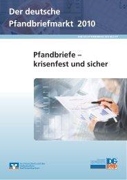 Der deutsche Pfandbriefmarkt 2010 - DG Hyp