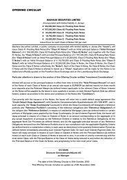 Offering circular Bauhaus Securities Limited - DG Hyp