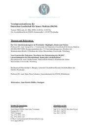 (DGIM) Themen und Referenten - Deutsche Gesellschaft für Innere ...