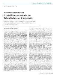S2e-Leitlinien zur motorischen Rehabilitation des Schlaganfalls