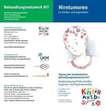 Hirntumoren - Deutsche Gesellschaft für Neurochirurgie - DGNC