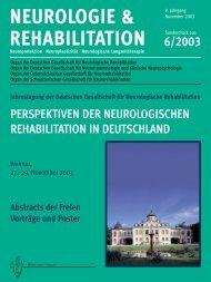 NEUROLOGIE & REHABILITATION - Deutsche Gesellschaft für ...