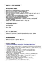 Vienna 2010 Programmentwurf