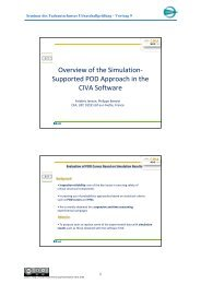 Overview of the Simulation-Supported POD Approach in the ... - DGZfP