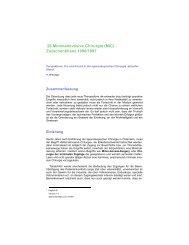 Minimalinvasive Chirurgie (MIC) -Zwischenbilanz 1996/1997