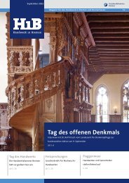 Tag des offenen Denkmals - Handwerkskammer Bremen