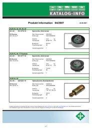 Produkt Information 04/2007 - Autoteile Pirna