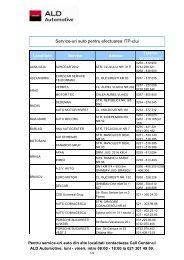 Service-uri auto pentru efectuarea ITP-ului - ALD Automotive