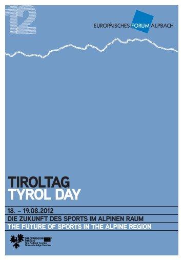 TIROLTAG TYROL DAY - Europaregion Tirol-Südtirol-Trentino