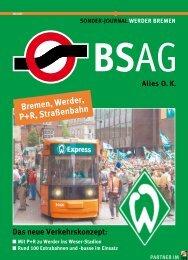 Bremen, Werder, P+R, Straßenbahn - BSAG
