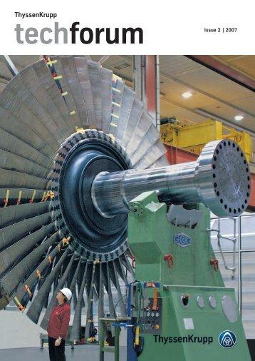 techforum Issue 2/2007 - ThyssenKrupp AG