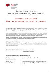 Gliederung Aufsatz Direktmarketing - DHBW Ravensburg