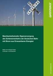 Studie Bahnstrom 2011 - Greenpeace