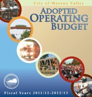 Adopted Operating Budget Fiscal Year 2011/12 - City - Moreno Valley