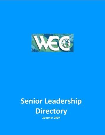 wec senior leadership members - World Environment Center