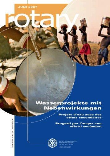 Wasserprojekte mit Nebenwirkungen - Rotary Schweiz