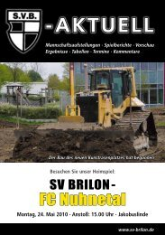 [AKTUELL - SV 20 Brilon
